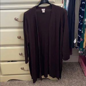 Chico's travels brown cardigan